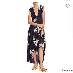 Shes' a Waterfall Hi/Low Free People Maxi Dress